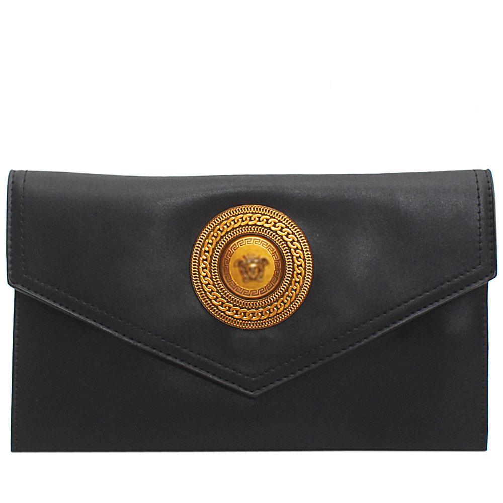 Black Adora Leather Flat Purse