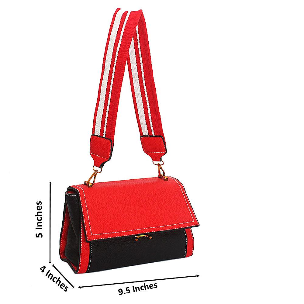 Red Melrose Tandy Leather Mini Handbag