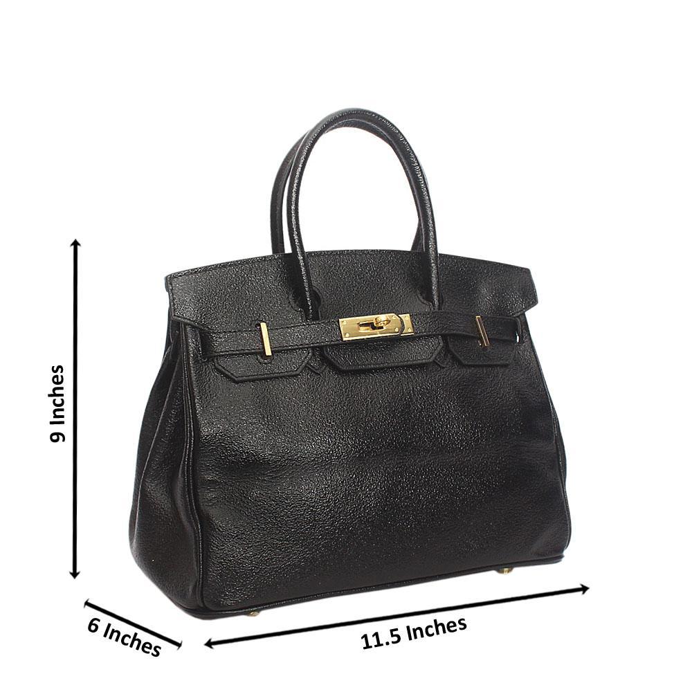 Black Generic Aussie Leather Birkin Handbag