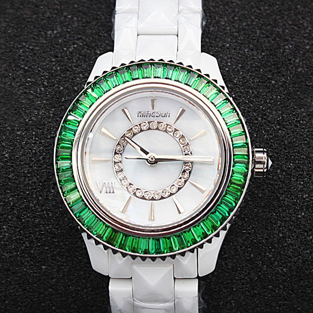 Empire Green Stone Ceramic Ladies Watch