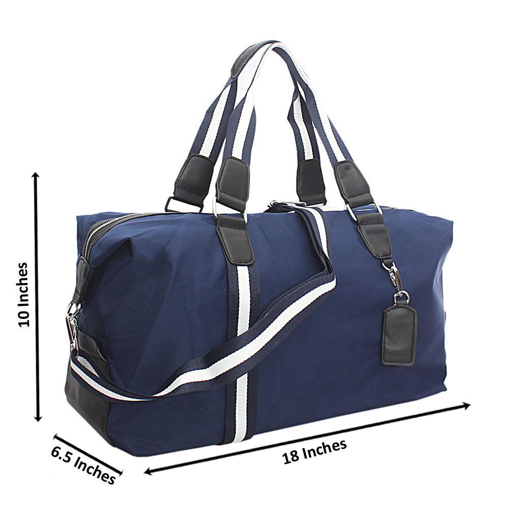 Blue White Cordura Fabric Duffle Bag