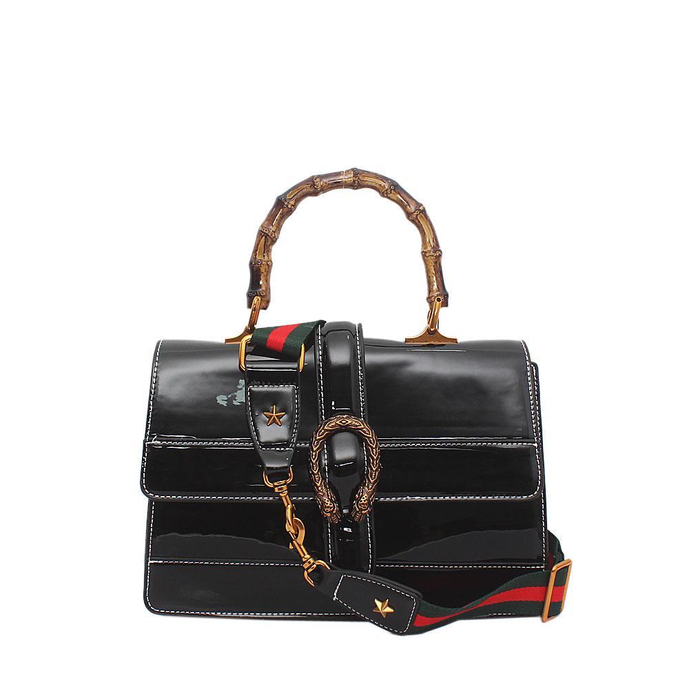 Black Patent Leather Dionysus Bag