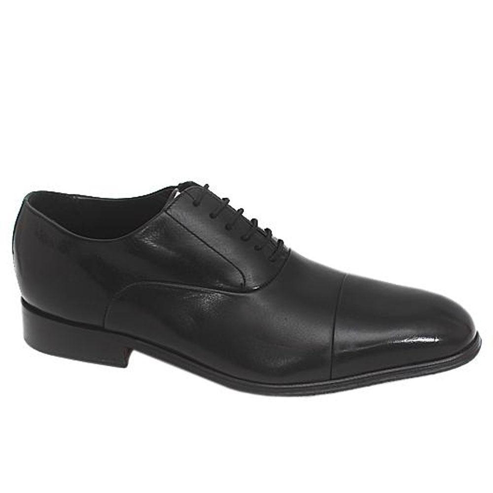 M & S Collezione Black Leather Men Shoe