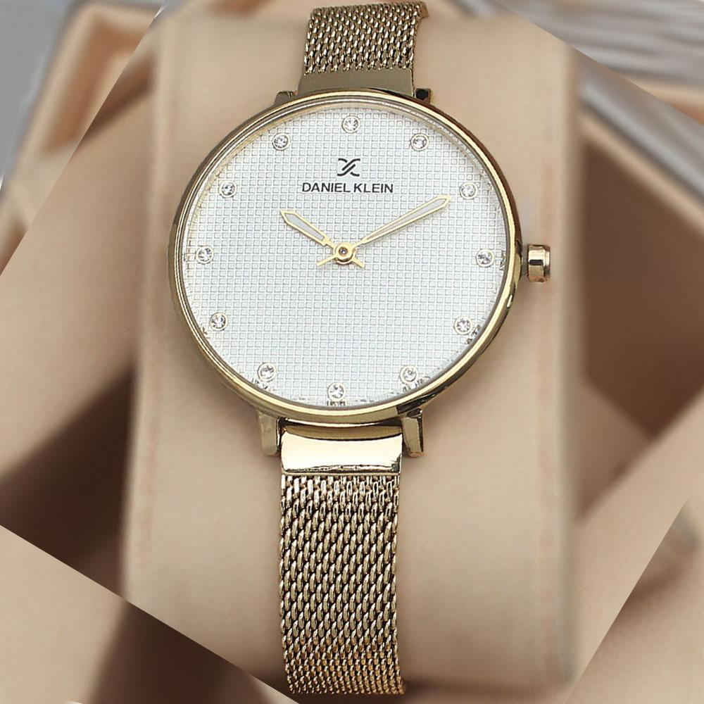 Daniel Klein Anthonia Gold Mesh Ladies Watch