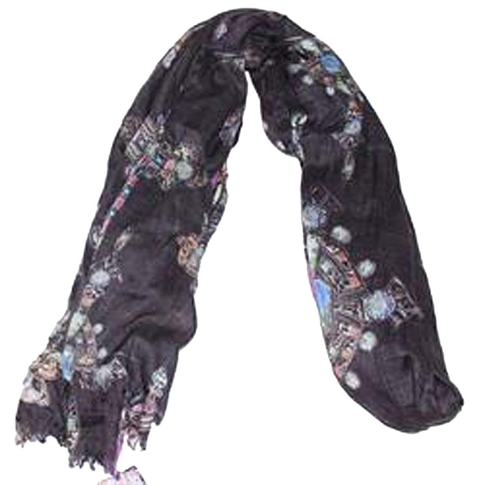 M&S Black/Purple Ladies Scarf-