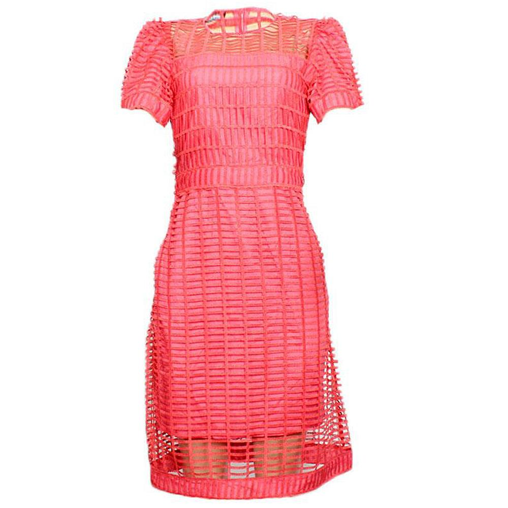 Kosmika Pink S/Sleeve Lace Dress