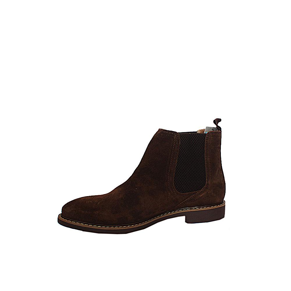 M & S Collection Brown Leather Men Ankle Shoe