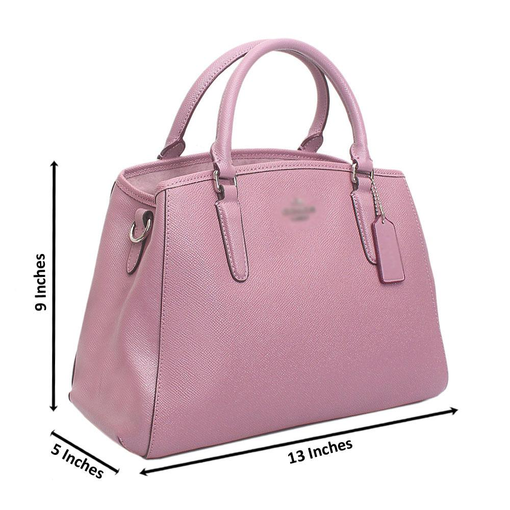 Lilac  Cahier Saffiano Leather Handbag