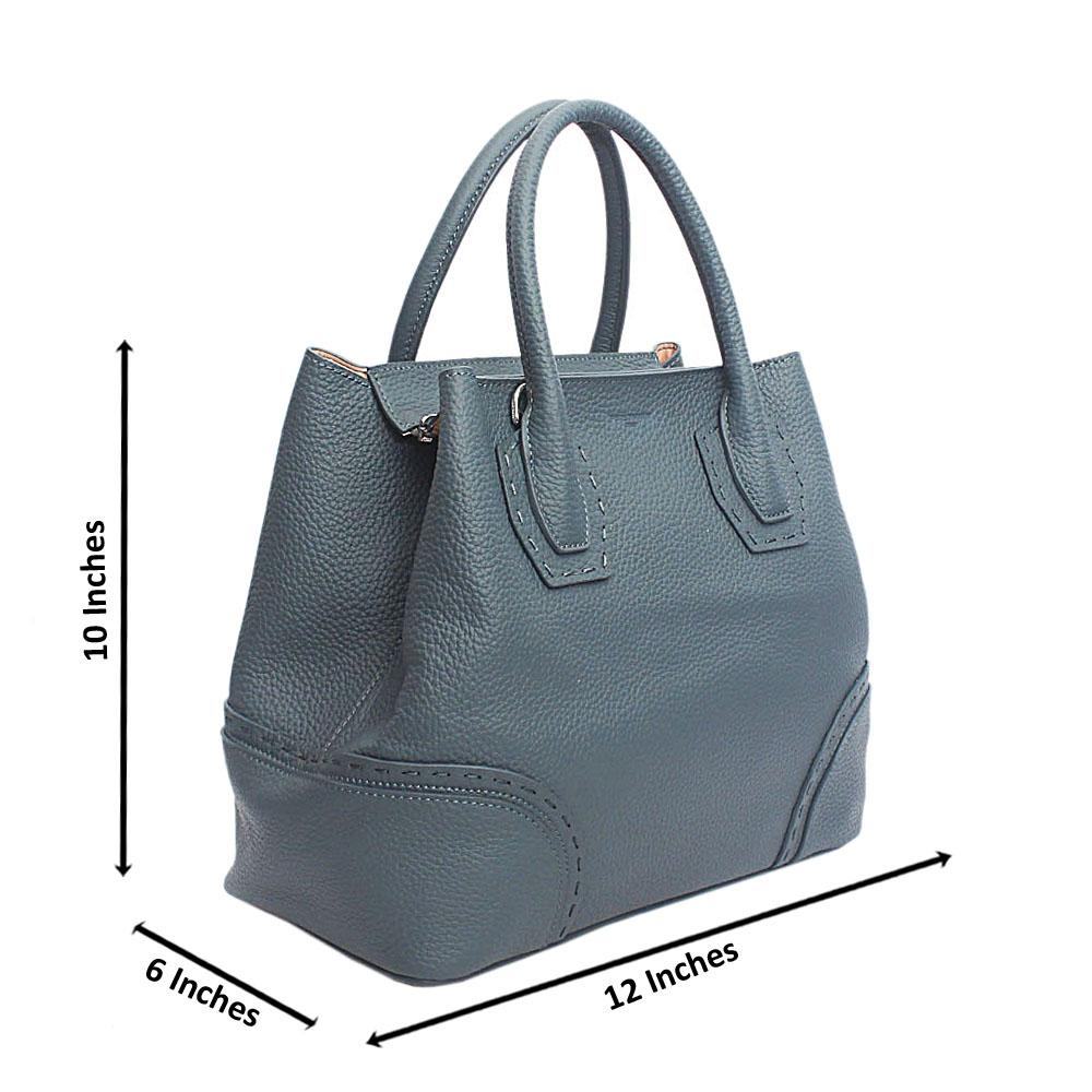 Forstmann Exclusive Blue Cow-Leather Tote Handbag