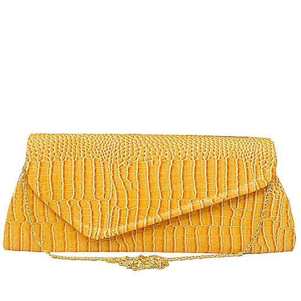 Yellow Leather Ladies Clutch Bag