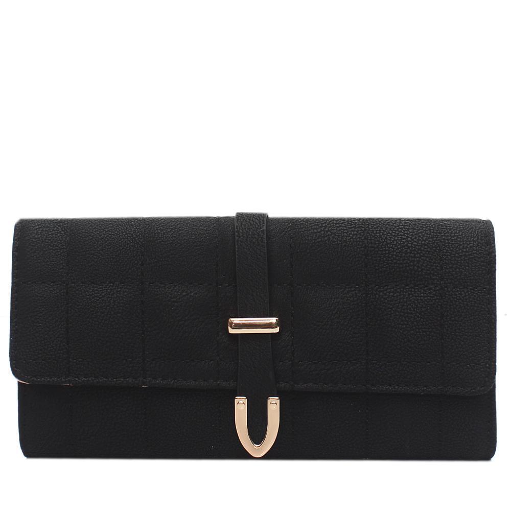 Nubuck Black Leather Ladies Wallet