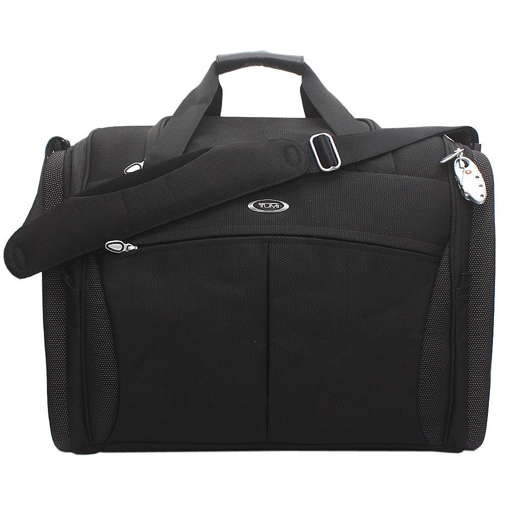 Tumi Black Luxury Fabric Travel Bag