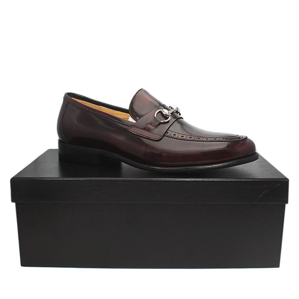 Aldo-Brue Wine Patent Italian Leather Men Shoe