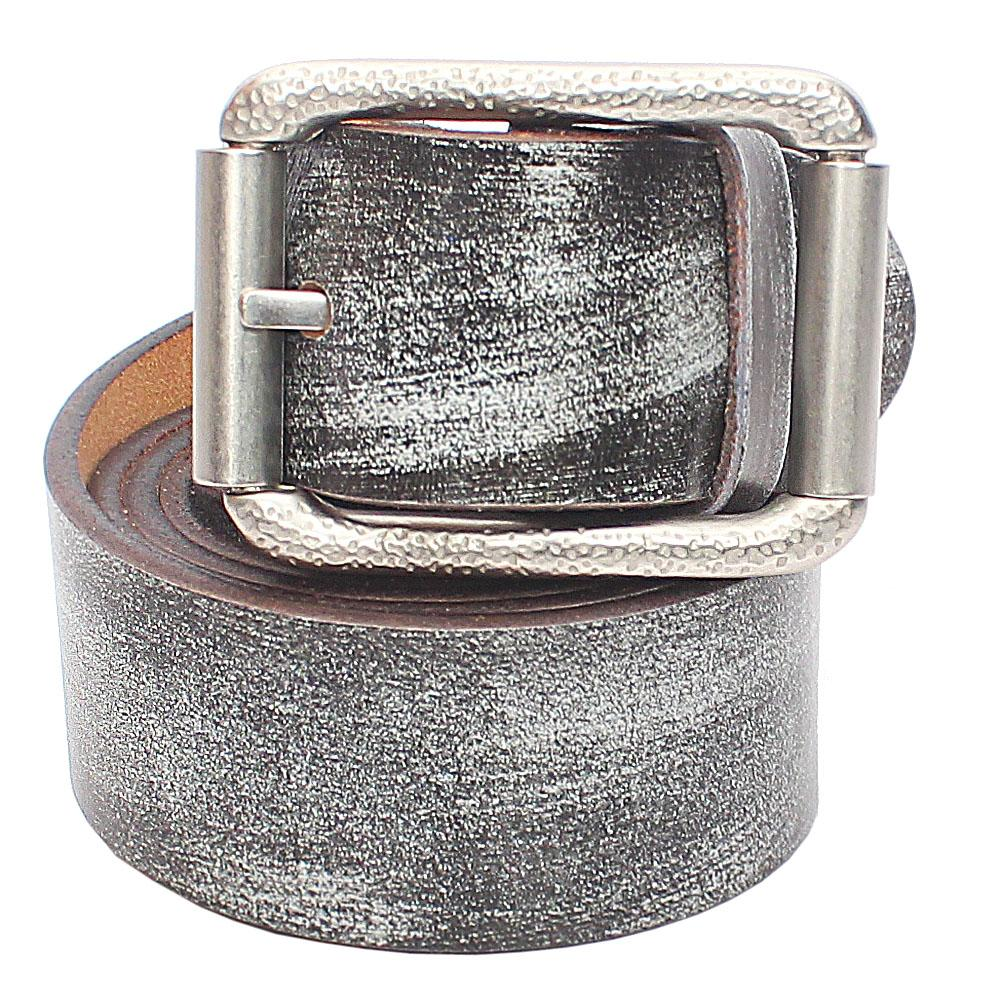 Grey Leather Belt L52