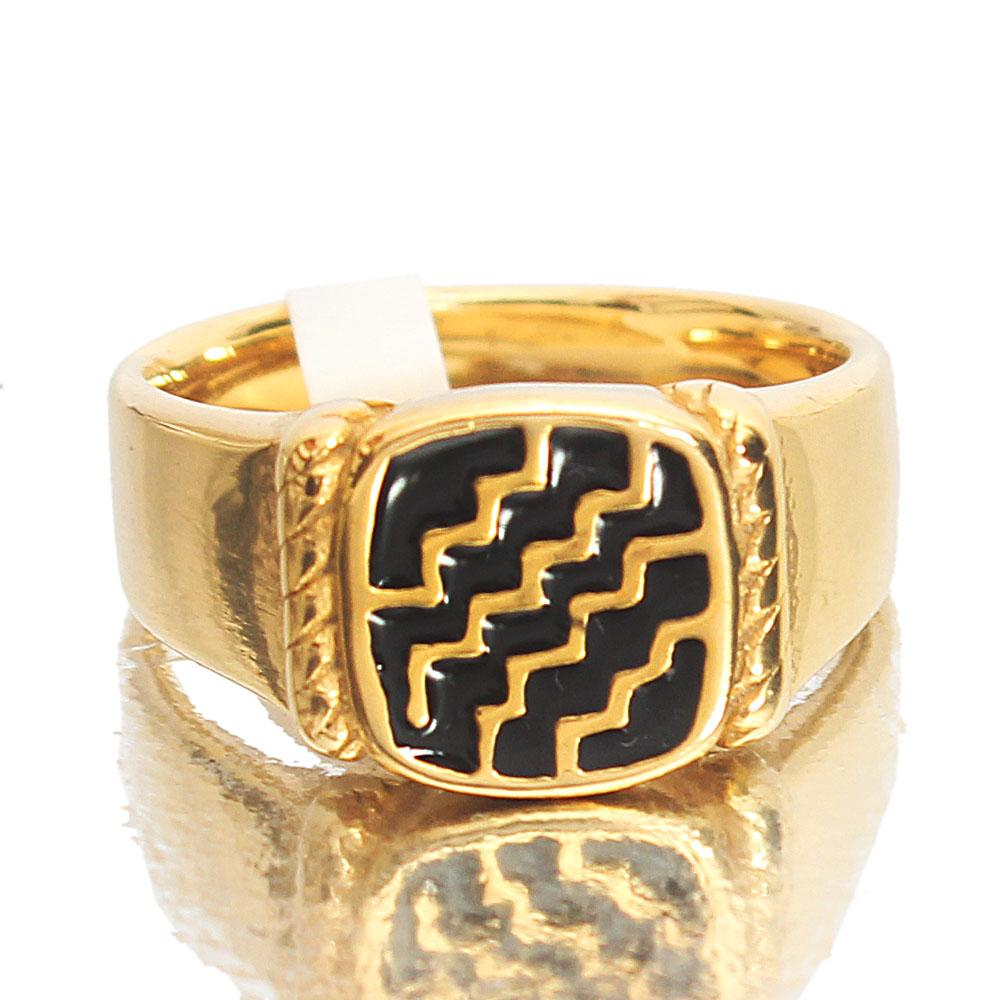 Gold Steel Fashion Ring