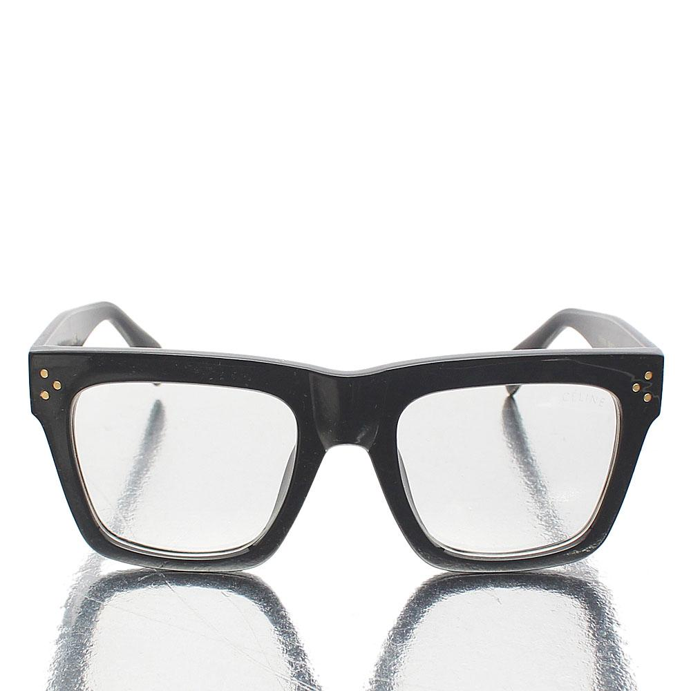 Black Oversized Wayfarer Clear Lens Glasses