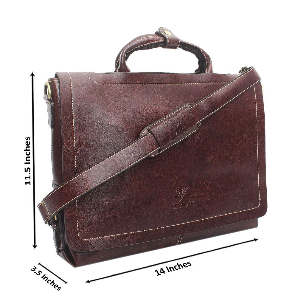 Wine Leather Messenger Bag