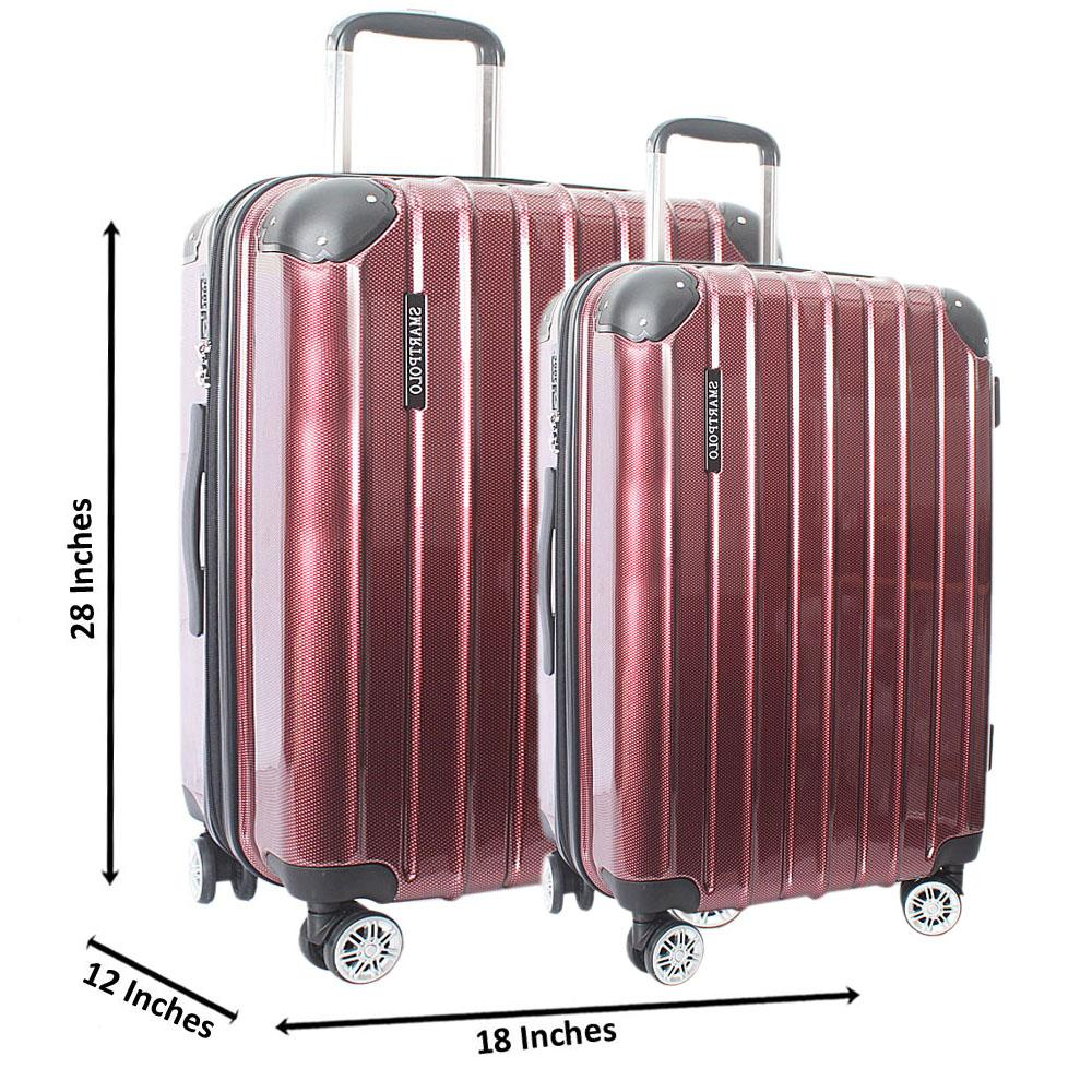 Wine 28 Inch Wt 24 Inch Hardshell 2 in 1 Premium Suitcase Wt TSA Lock