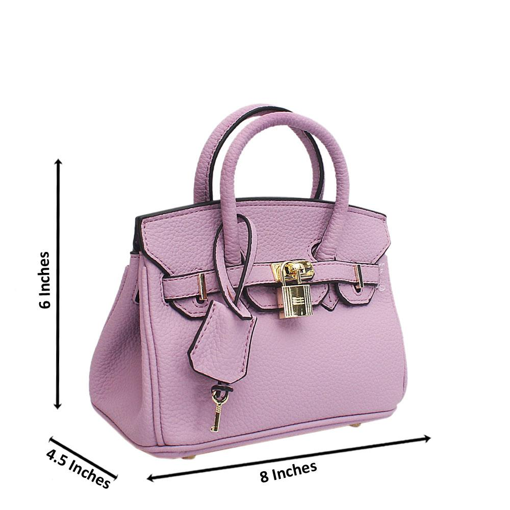 Lilac Cutie Barbie Tandy Leather Mini Handbag