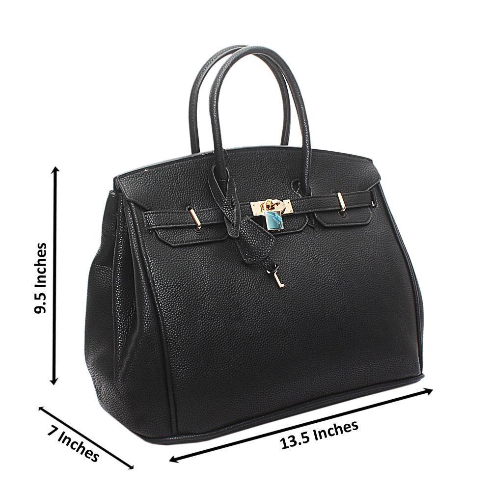 Black Leather Mate Birkin Bag