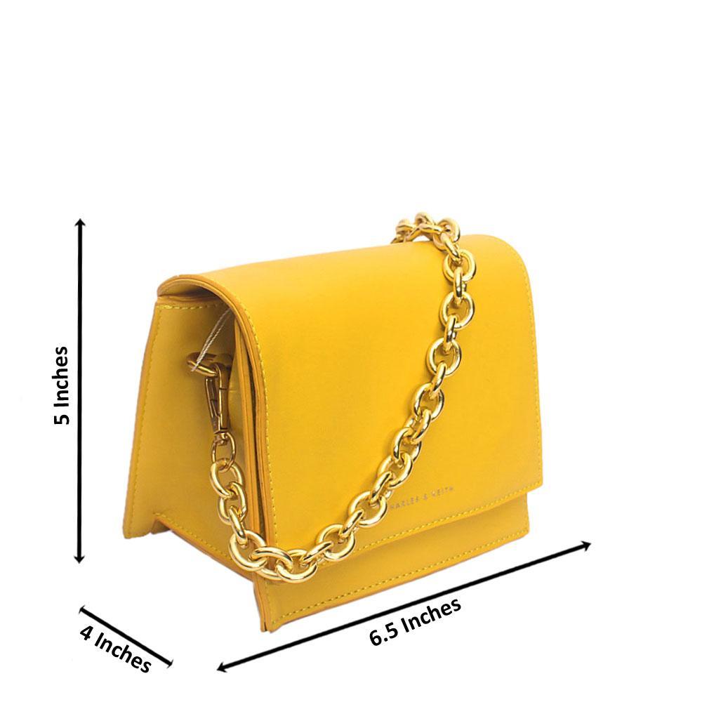 Cutie Yellow Leather Mini Bag