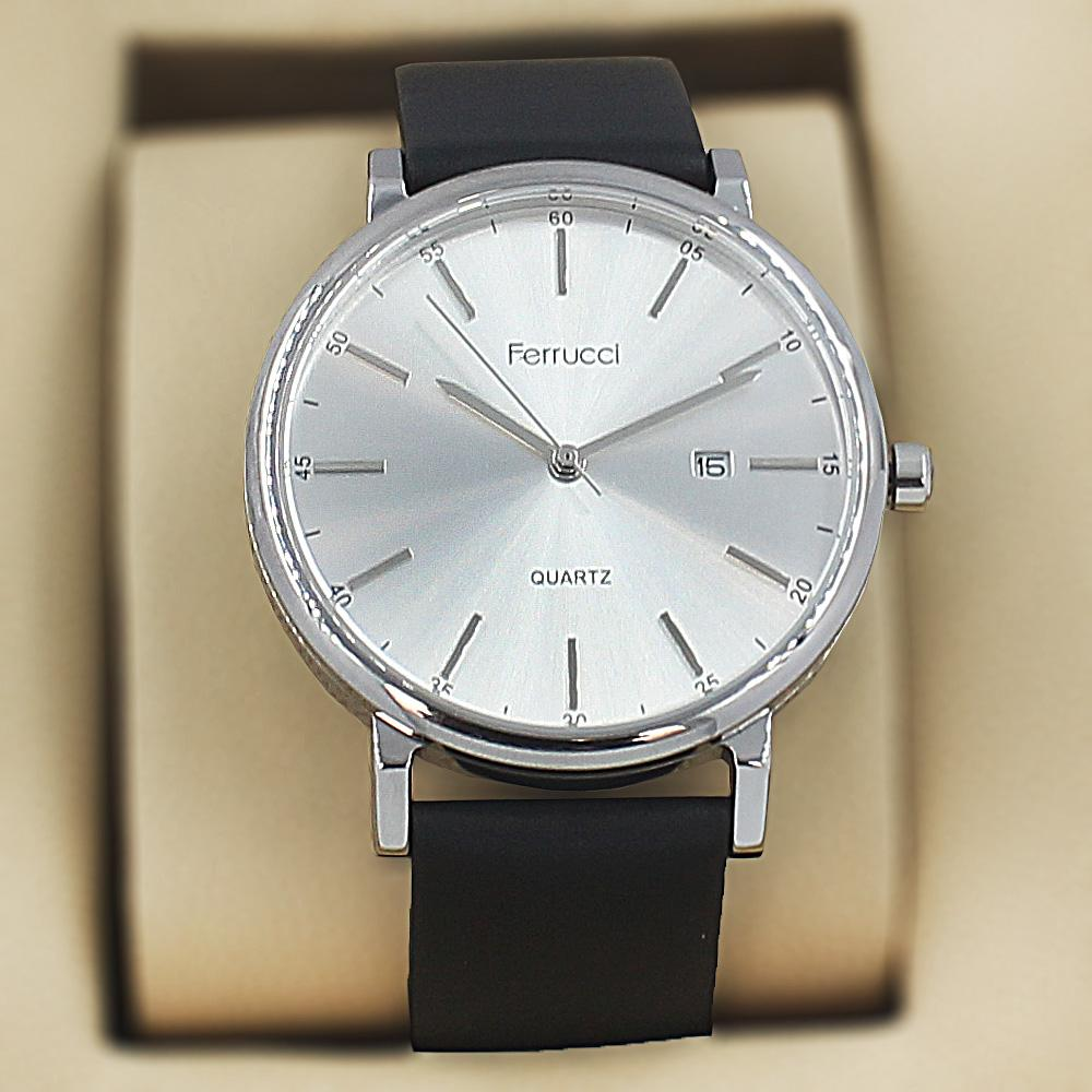 Ferrucci Karstan Black Leather Fashion Series Watch
