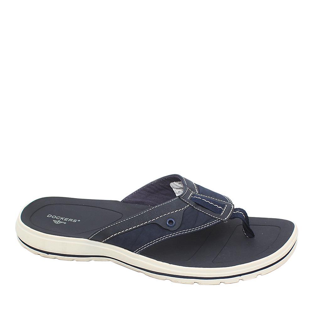 Dockers Blue White Leather Men Pam Slippers
