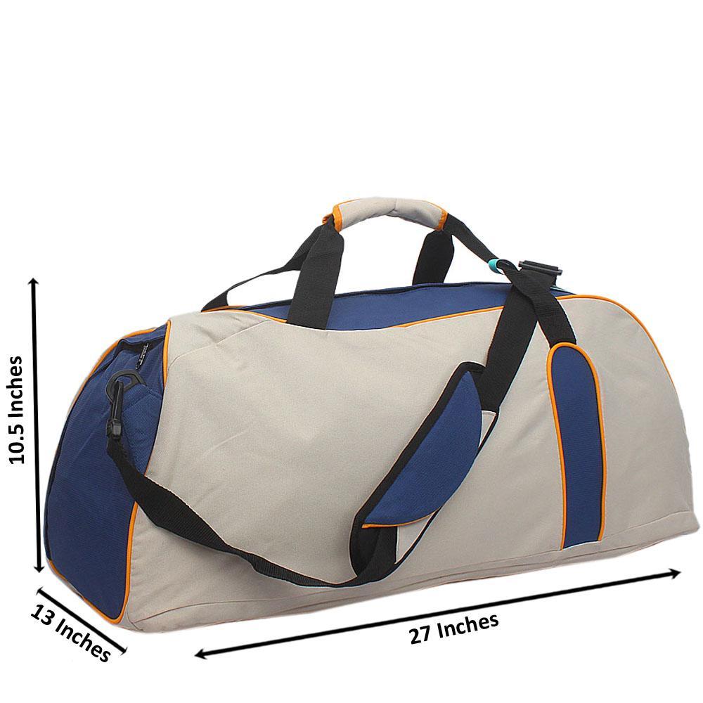 Blue Cream Marks & Spencer Fabric  Holdall Bag