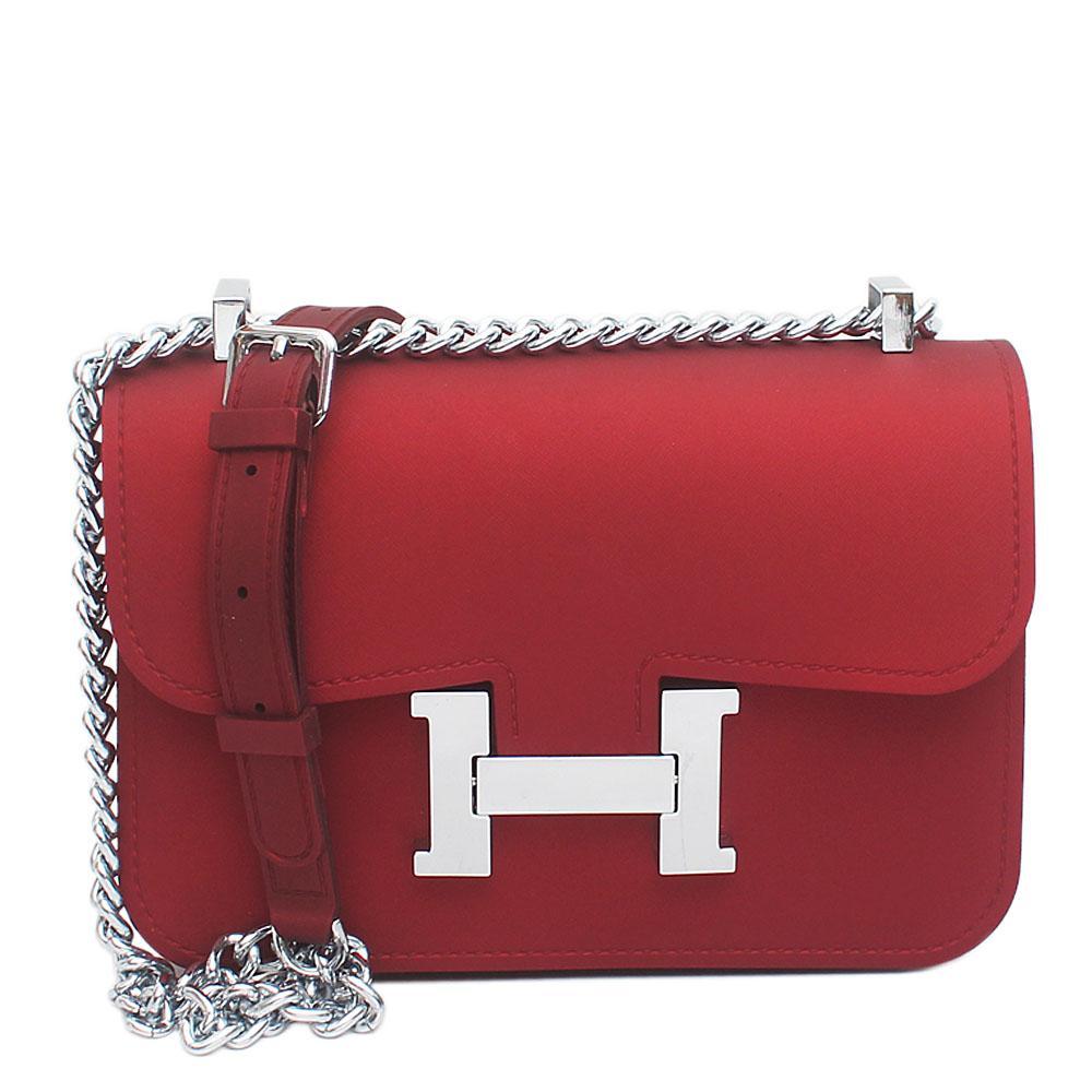 Constance Wine Rubber Small Handbag