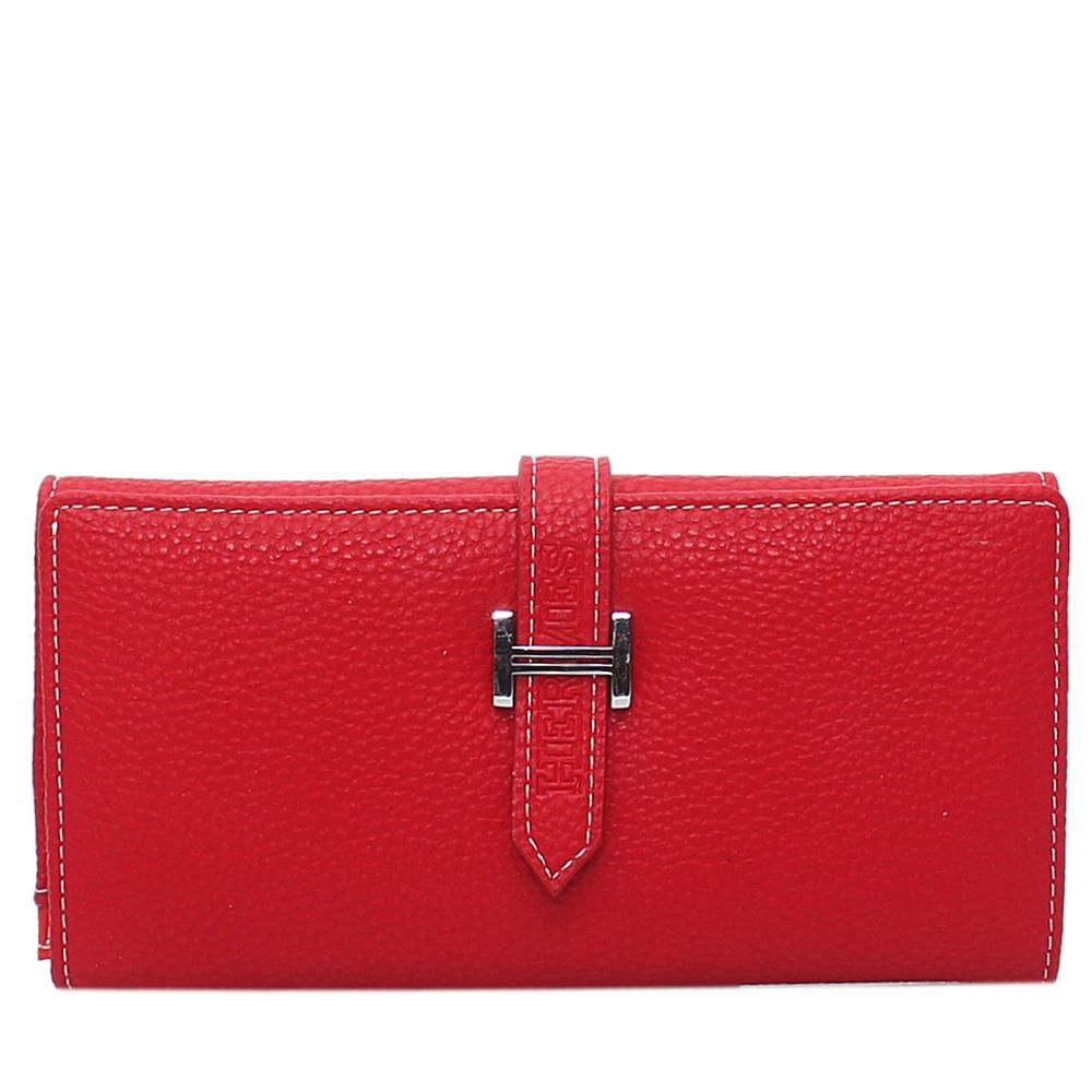 Red-Leather-Ladies-Wallet