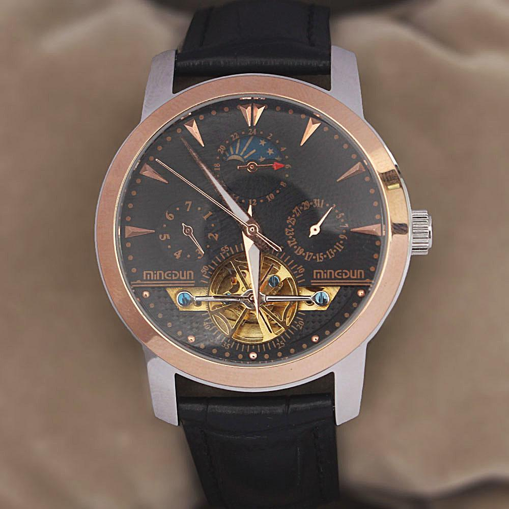 Shanghai Legendary Black Premium Croc Leather Automatic Watch