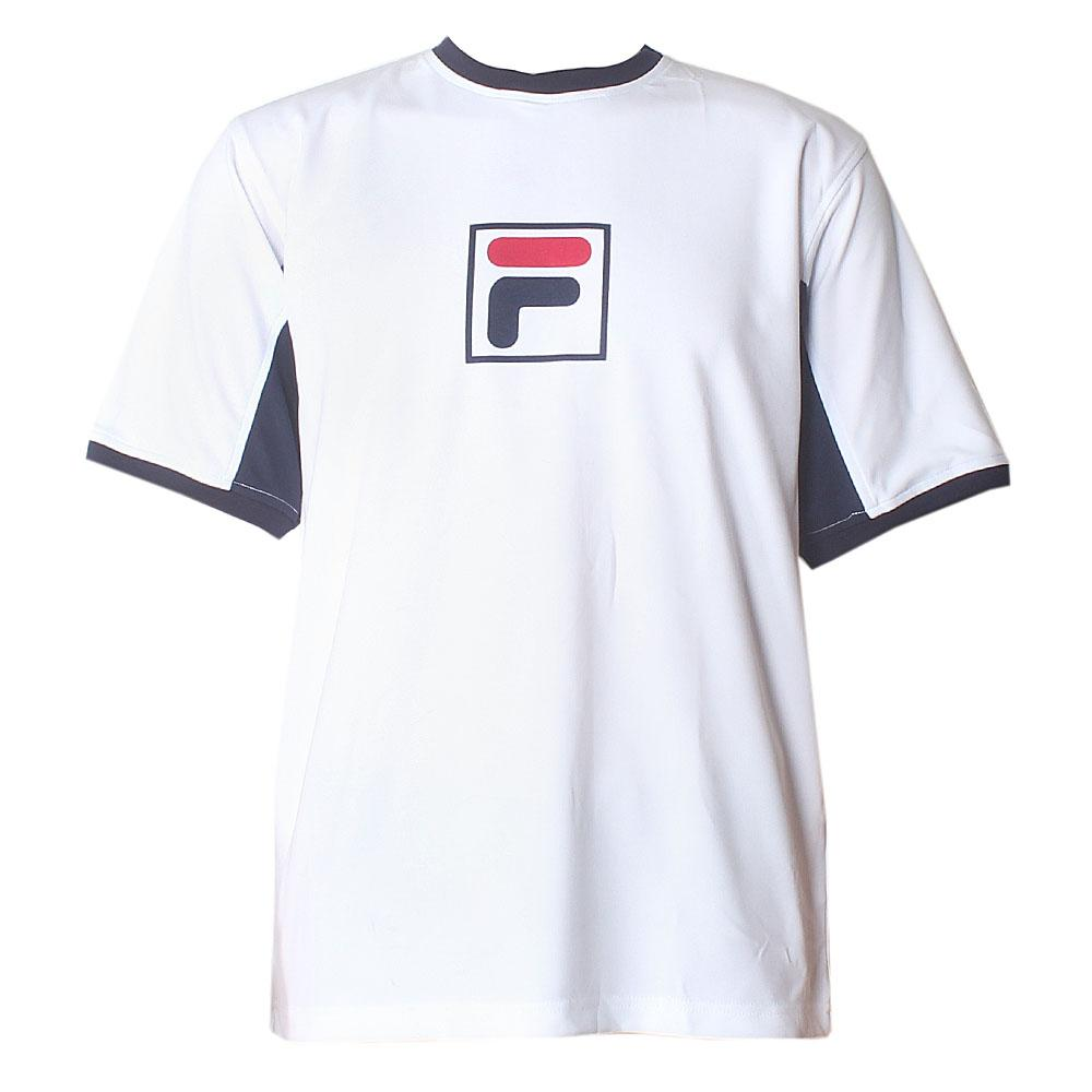 Fila White Blue Men T-Shirt