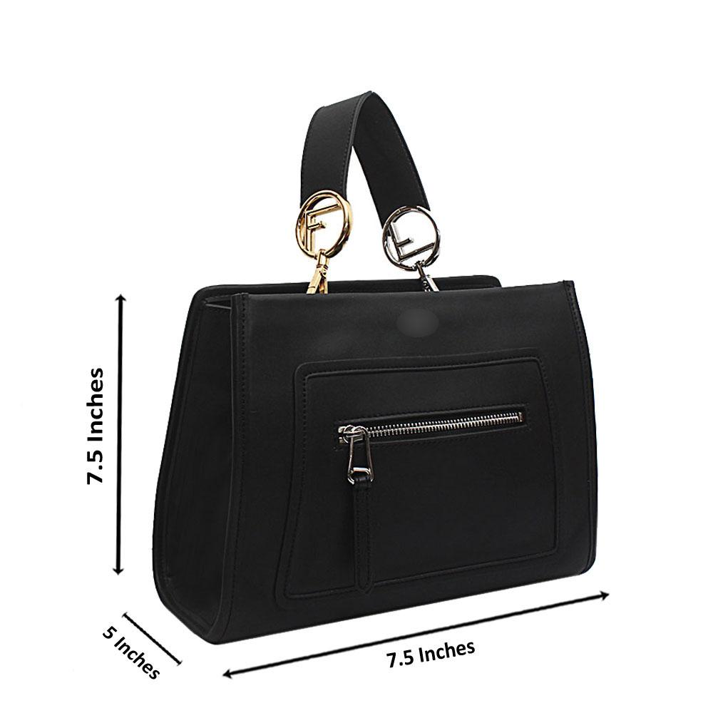 Black Saffiano Leather Small Runaway Bag