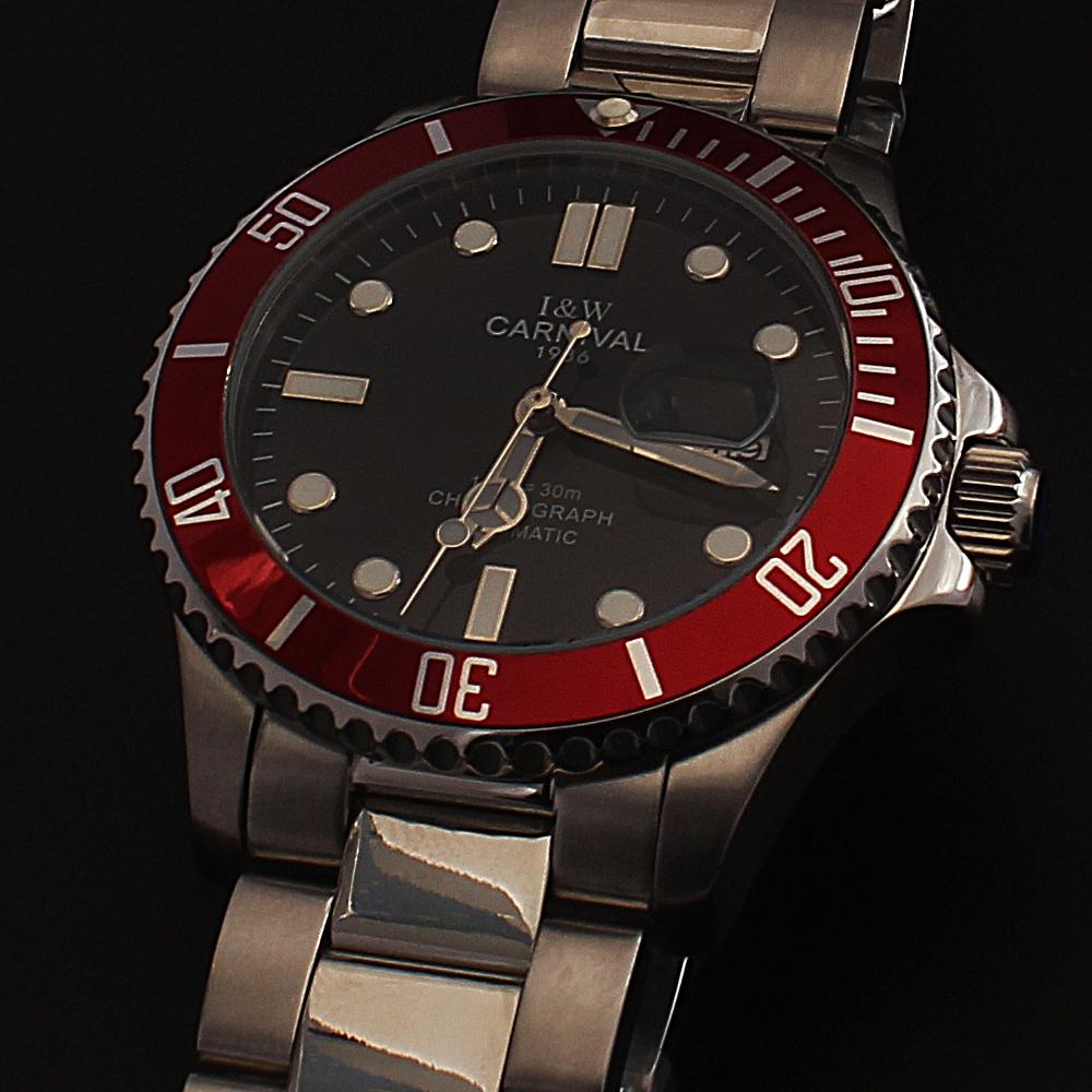 Shanghai-Sport-GP-Silver-Red-Stainless-Steel-Automatic-Watch