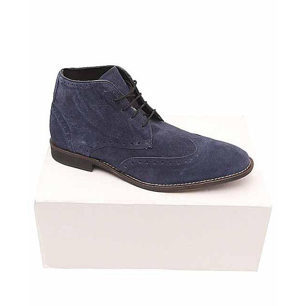 Kurt Geiger Navy Suede Leather Men Ankle Shoe