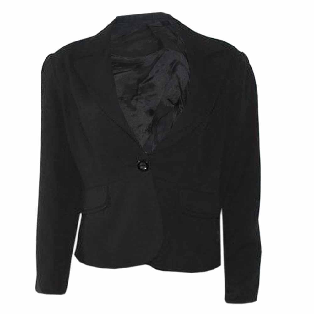 Valery Black Cotton Ladies Jacket