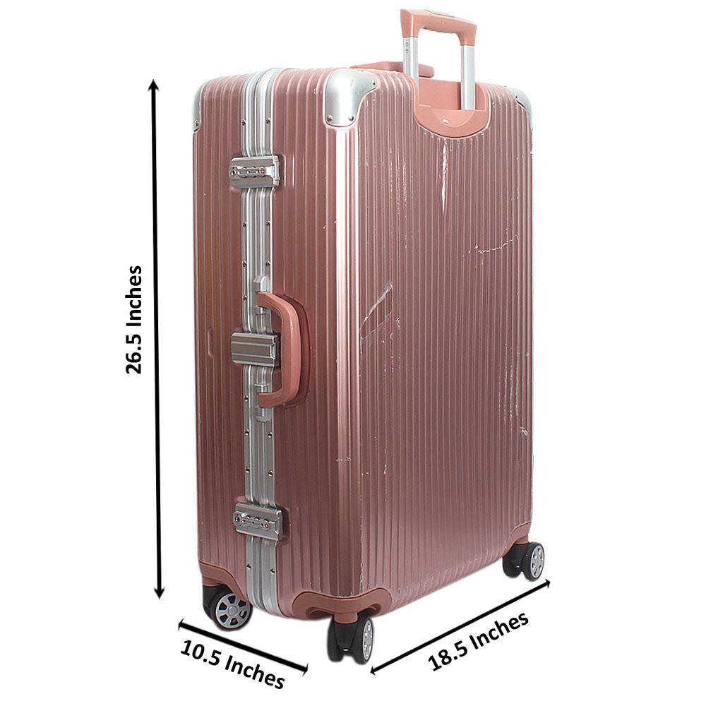 Pink Flexible Hardshell Suitcase wt TSA Lock