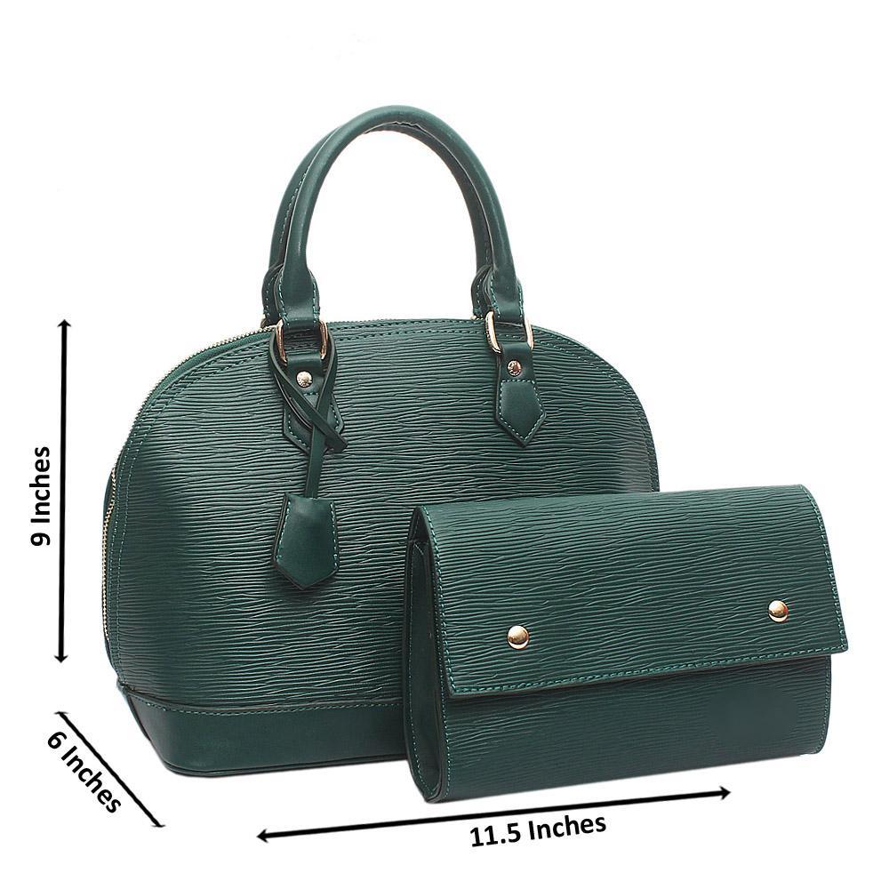 Green Medium Alma BB Leather Bag Wt Purse