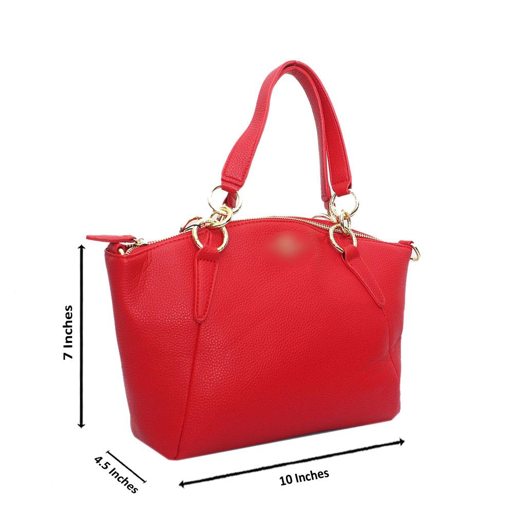Red Leather Small Kelsey Bag