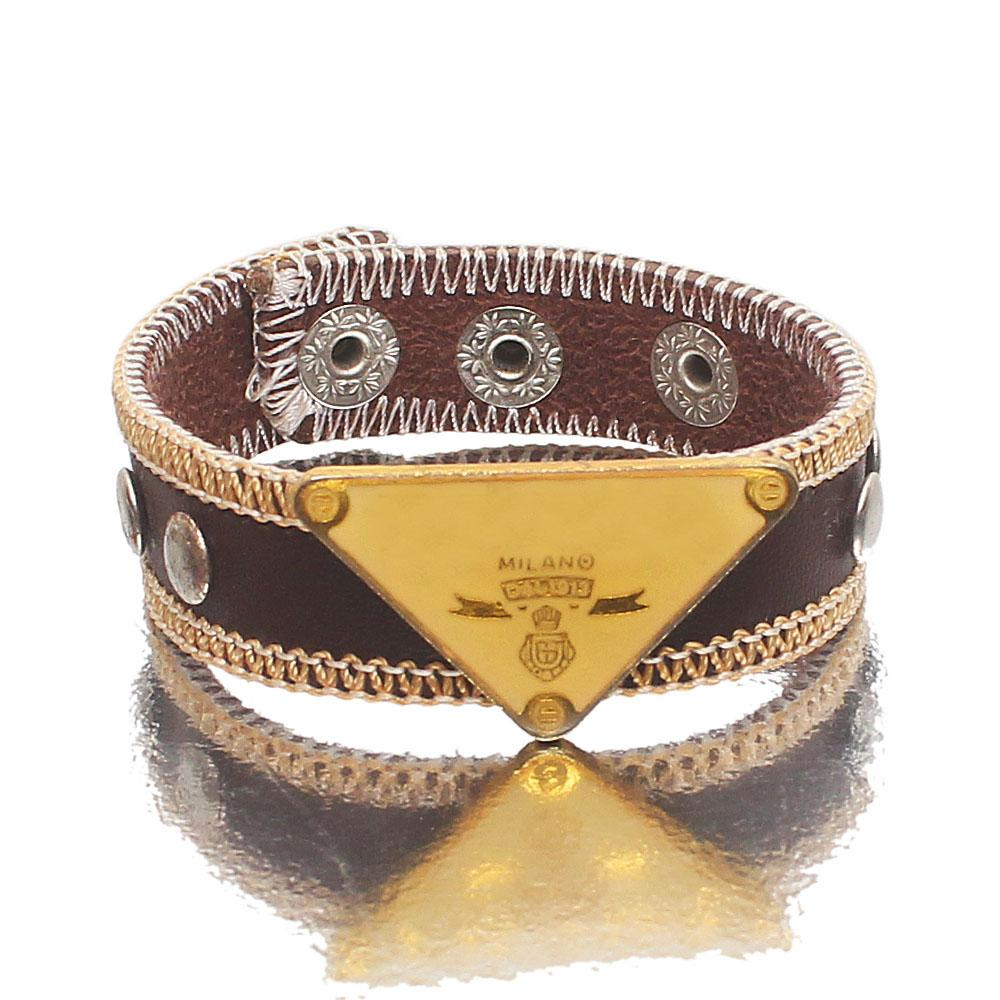 Coffee-Brown-Leather-Pirate-Bracelet