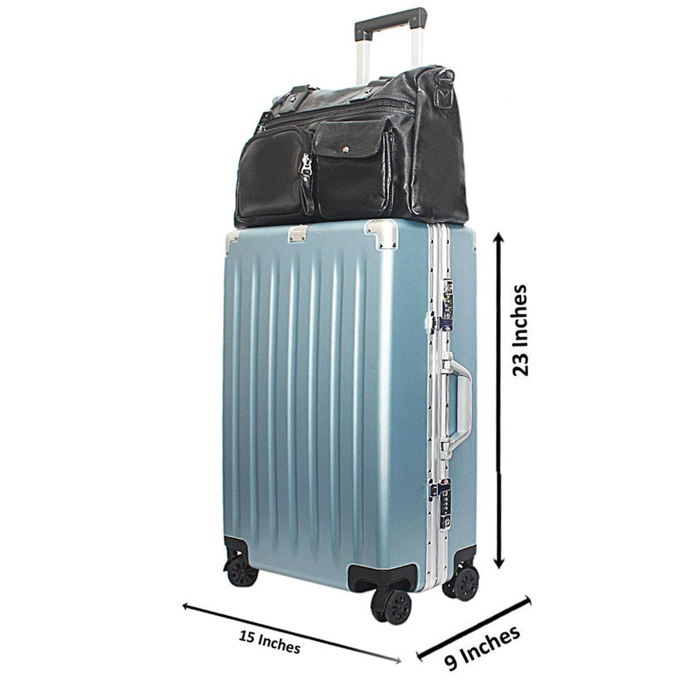 Sky Blue 24 Inch TSA Lock Hardshell Suitcase Wt Business Bag