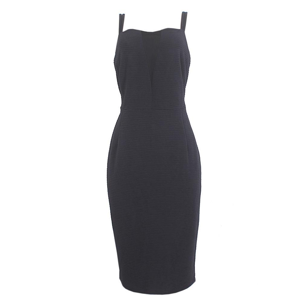 MnS-Collection-Black-Sleeveless-Cotton-Dress-Uk-16