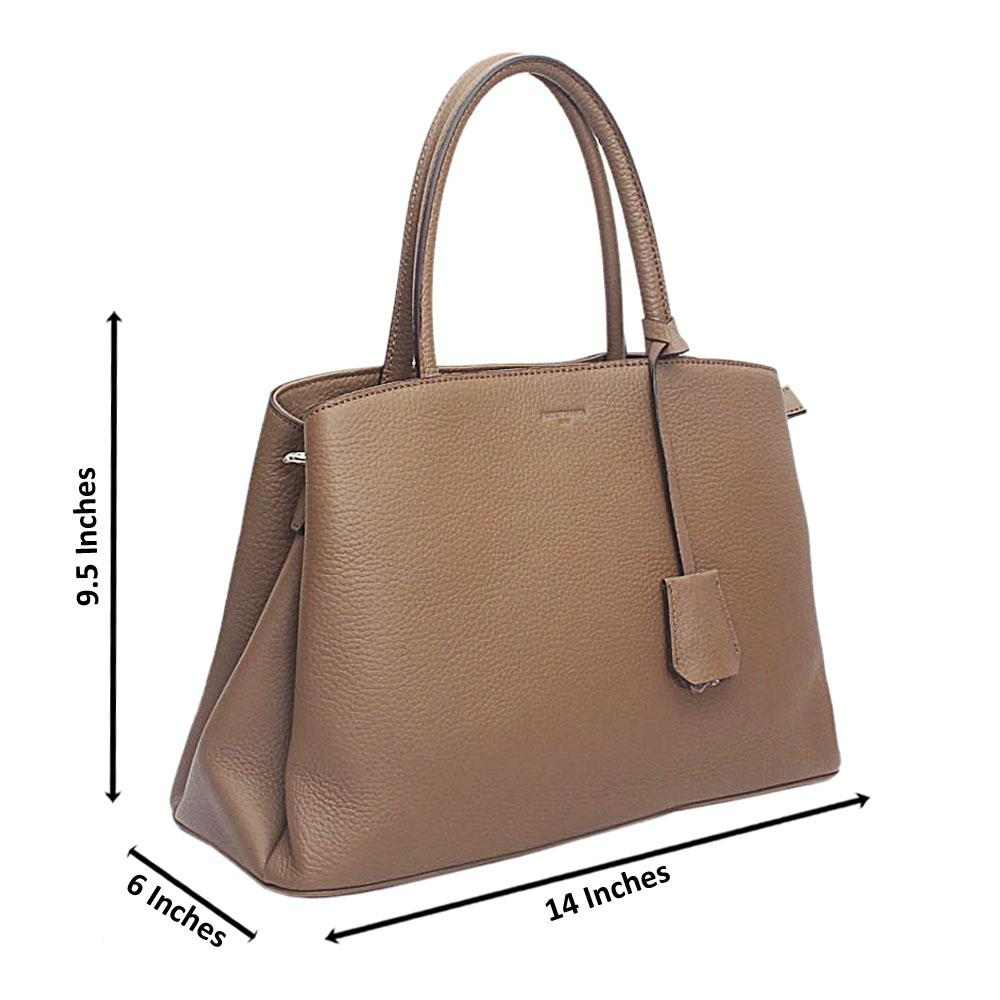 Forstmann Iconic Brown Cow-Leather Tote Handbag