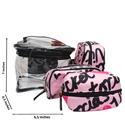 VS Pink Rubber Fabric Makeup Bag