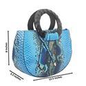Blue Mix Skin Leather Medium Gorgeous Handbag