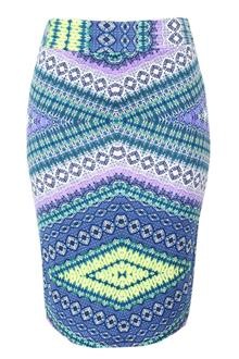 Multicolor Stretch Skirt