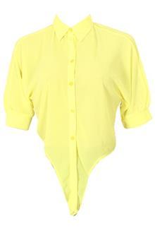 Yellow S/Sleeve Ladies Chiffon Top Shirt