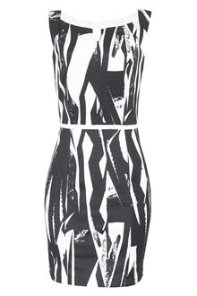 Emma & Michelle Monochrome Sleeveless Ladies Cotton Dress
