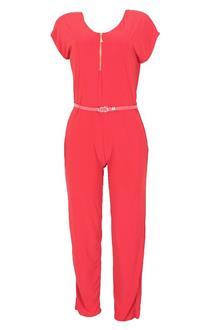 Atmosphere Red Ladies Sleeveless Cotton Jumpsuit Wt Belt