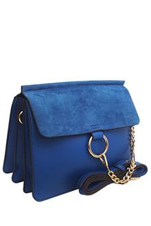 Chloe Blue Suede-Leather Crossover Bag